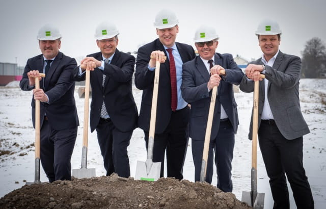 Ground-breaking ceremony in bayernhafen